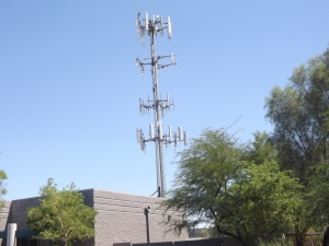 Undisguised cell tower