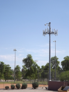 Stadium light cell tower