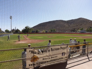 View of action on Warren Field (Bisbee, AZ) from the stands.