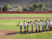Image of vintage baseball team Warren Field infield, Bisbee, AZ
