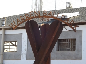 Image: front of Warren Stadium in Bisbee, AZ