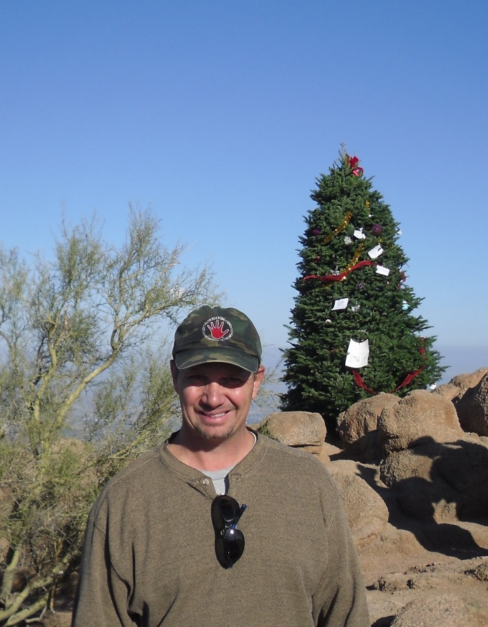 Me at the summit of Camelback Mountain.