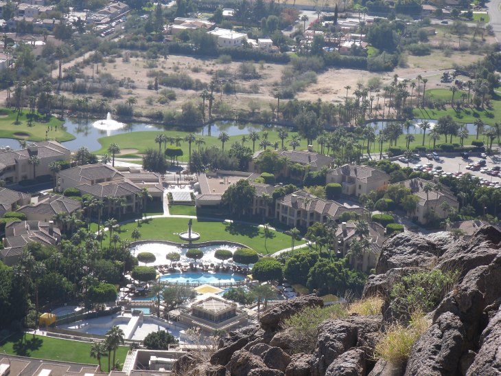 Overlooking the Phoenician Resort