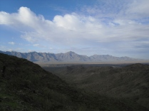 View of the Estrella Mountain Range on Gila River Indian Community land.