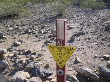 Desert Classic Trail is well-traveled by a variety of users.
