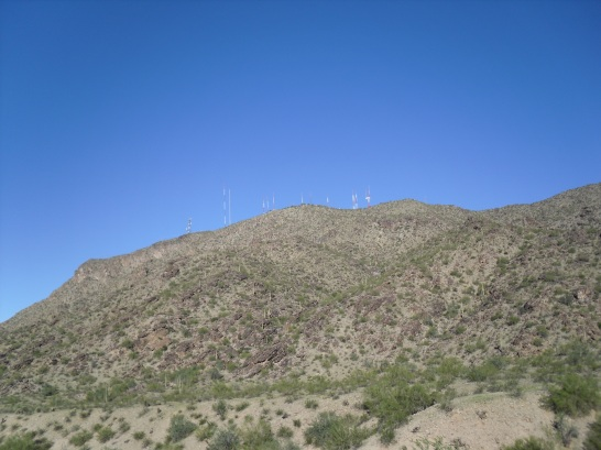 You can see the notorious transmission towers atop South Mountain in the distance.