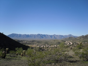 Great view of the Estrella Mountain range that runs along the western edge of Gila River Indian Community.