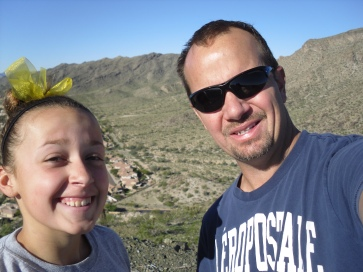 Posing for a selfie with my daughter Caymen. She led the way on this hike.
