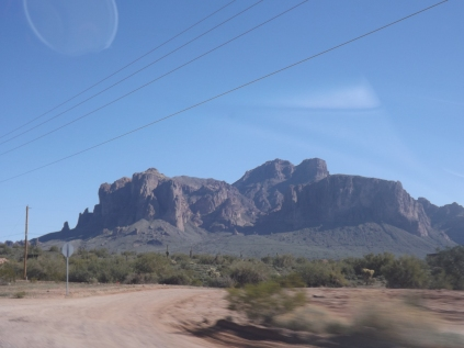 Superstition Mountains on Apache Trail, AZ