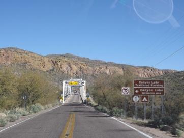 Canyon Lake Turnoff, Apache Trail, AZ