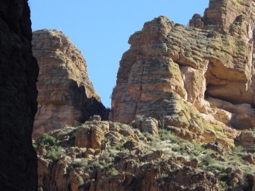 Rock formations along Apache Trail, Arizona