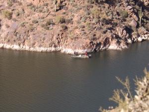 Fisherman at Apache Lake