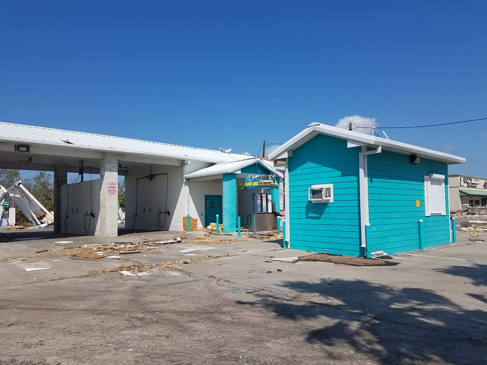 Little blue shed of Rockport, TX made famous by storm chaser JeffPiotrowski